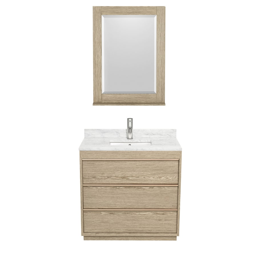 Shop Wyndham Collection Naya Ash Gray Undermount Single Sink Bathroom Vanity With Natural Marble