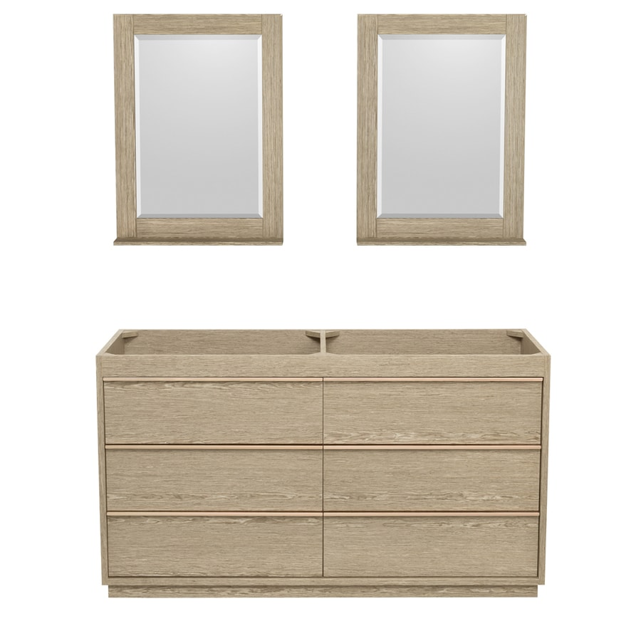 Wyndham Collection Naya Ash Gray Bathroom Vanity (Common: 60-in x 22-in; Actual: 59.25-in x 22-in)
