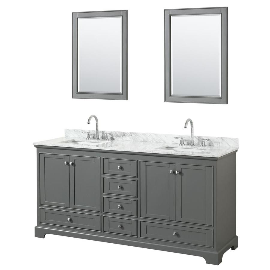 wyndham tops andover sink vanity vanities double p white under carrara collection in mount with top marble
