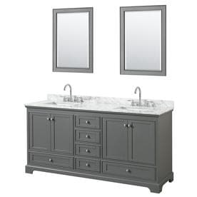 60 double sink vanity with granite top. Wyndham Collection Deborah Dark Gray Undermount Double Sink Bathroom Vanity  with Natural Marble Top Common Shop Vanities at Lowes com