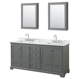 Wyndham Collection WCS202072DCMUNSMED Deborah 72u0022 Free Standing Double Vanity Se