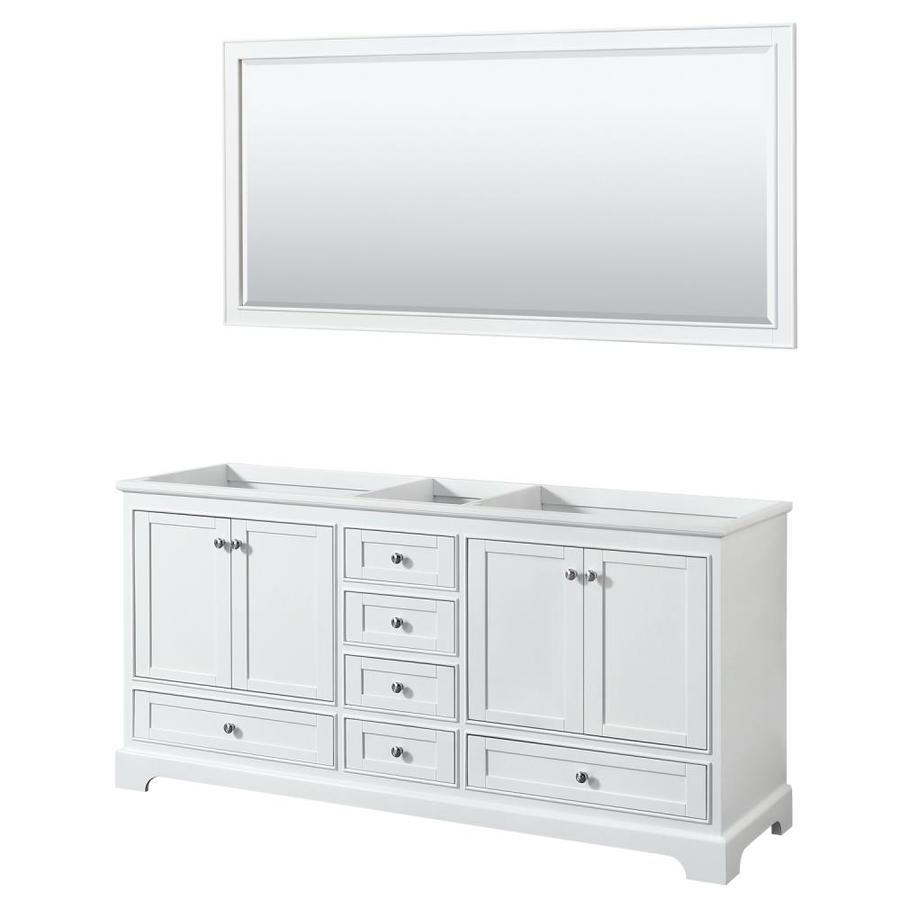 White Transitional Bathroom Vanities: Wyndham Collection Deborah White 71.0 Transitional