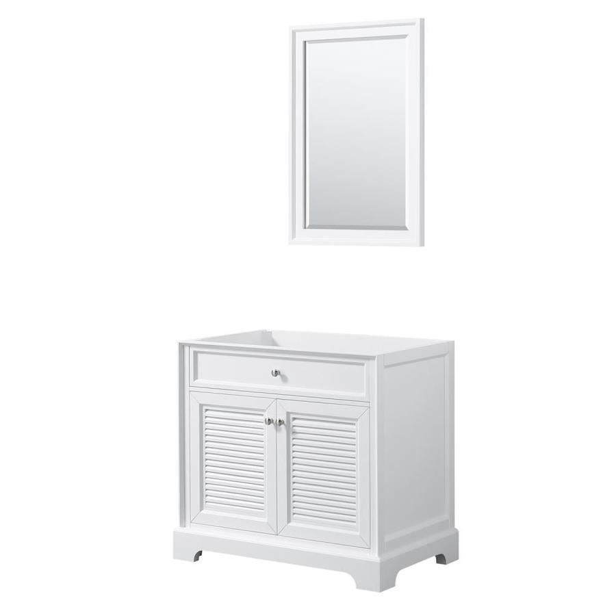 Wyndham collection tamara 36 5 in white bathroom vanity - Lowes bathroom vanities without tops ...