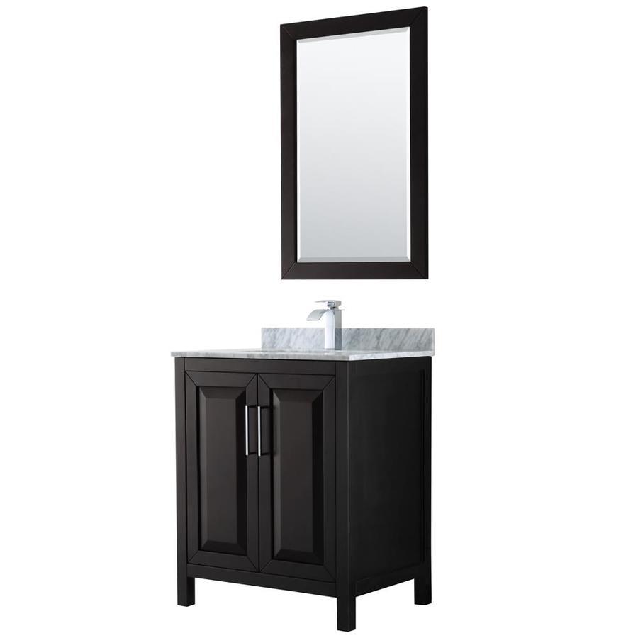 Wyndham collection daria 30 in dark espresso single sink - 30 bathroom vanity with marble top ...