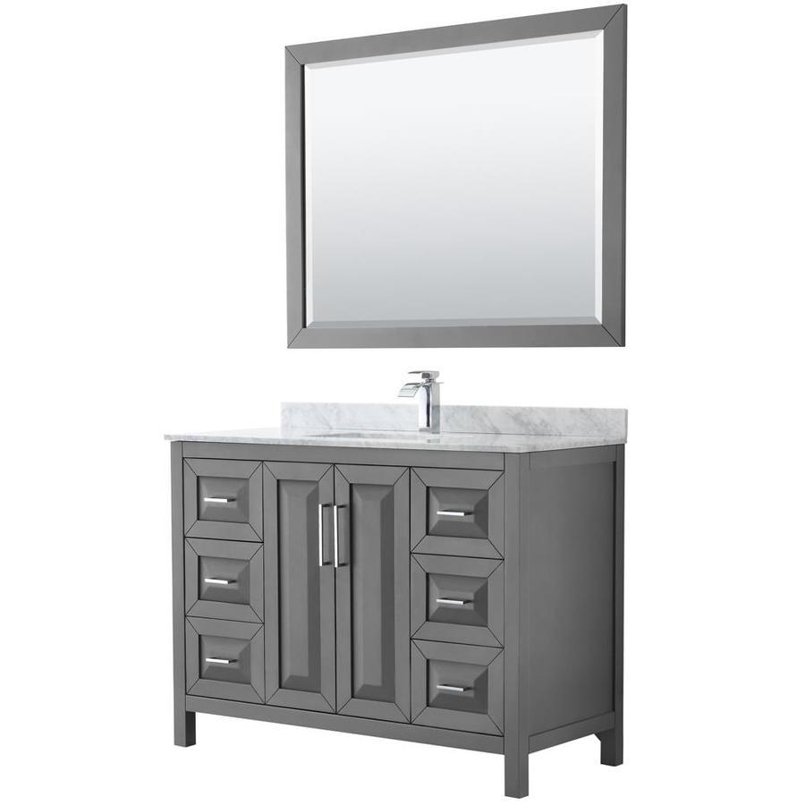 Wyndham Collection Daria 48 In Dark Gray Single Sink
