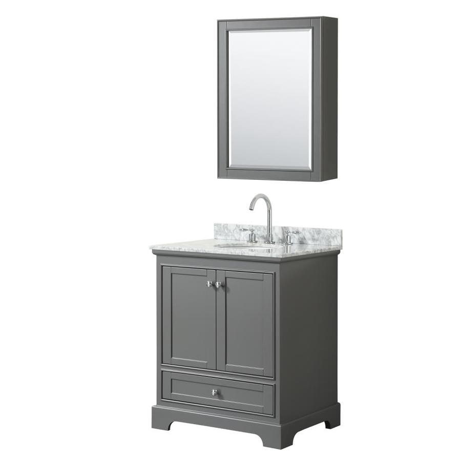 Wyndham Collection Deborah 30-in Dark Gray Single Sink ...