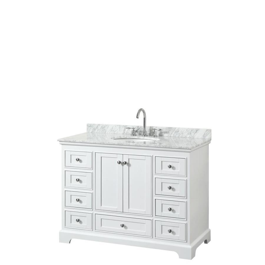 Wyndham Collection Deborah 48 In White Single Sink Bathroom Vanity