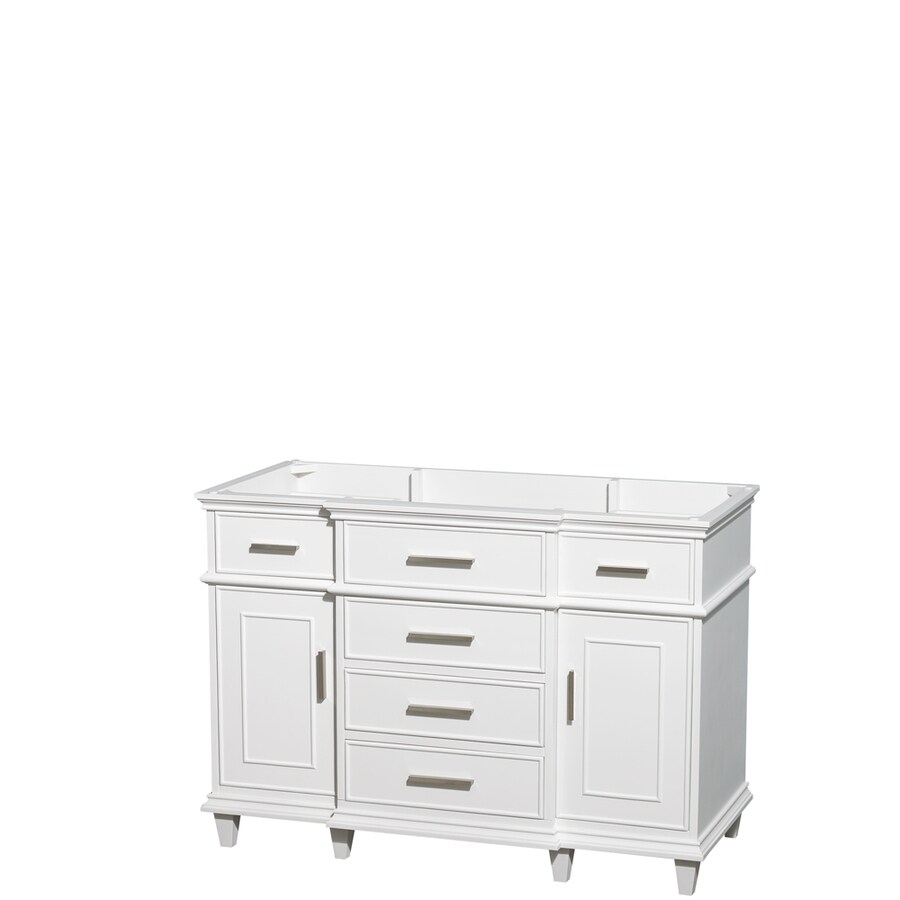 Wyndham Collection Berkeley White Bathroom Vanity (Common: 48-in x 22-in; Actual: 47-in x 22-in)