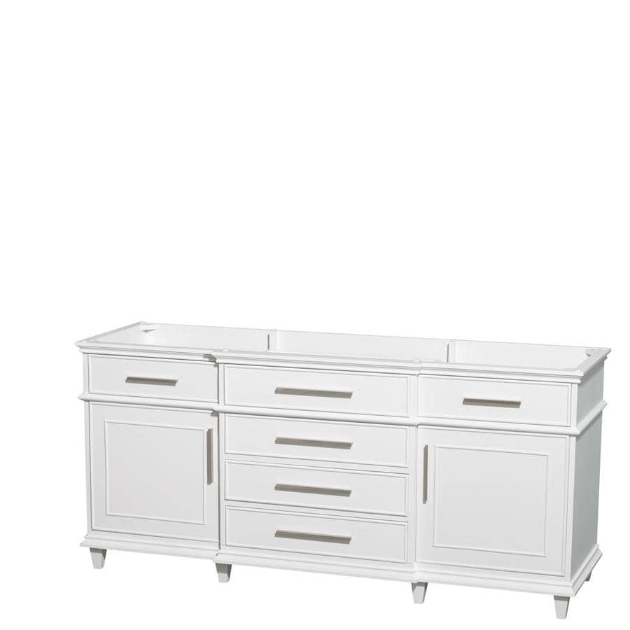 Wyndham Collection Berkeley White Bathroom Vanity (Common: 72-in x 22-in; Actual: 71-in x 22-in)