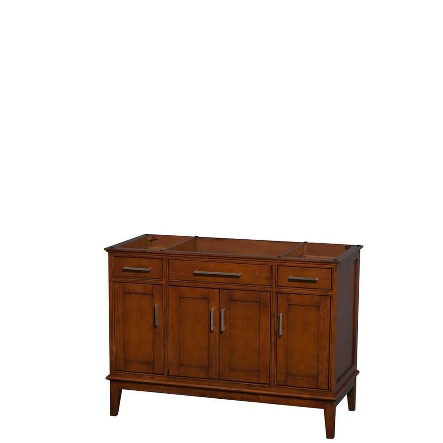 Wyndham Collection Hatton Light Chestnut Bathroom Vanity (Common: 48-in x 22-in; Actual: 47-in x 21.5-in)