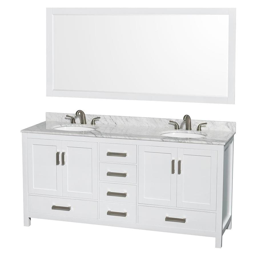 Shop wyndham collection sheffield white undermount double Stores to buy bathroom vanities