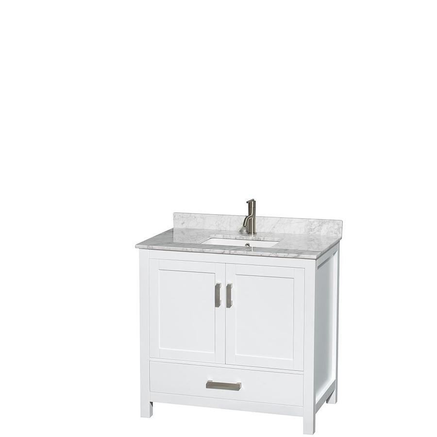 Shop Wyndham Collection Sheffield White Undermount Single Sink Bathroom Vanity With Natural