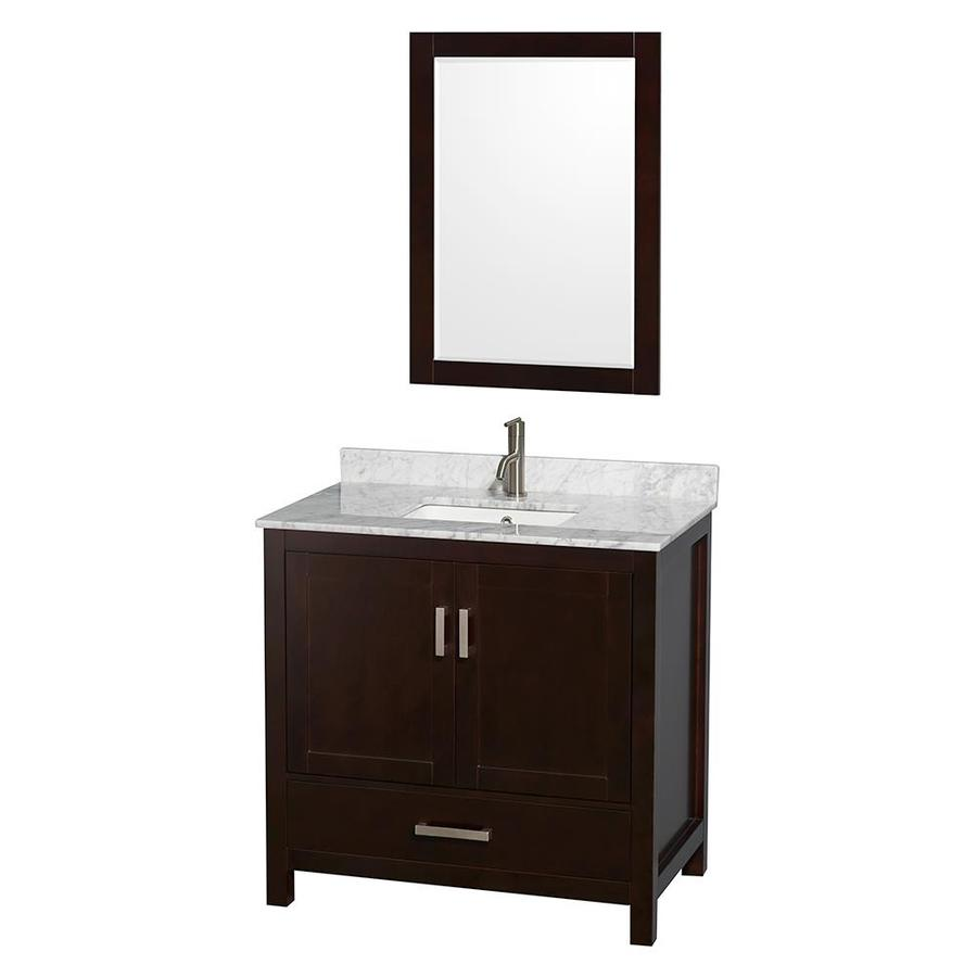 sheffield espresso 36 in undermount single sink birch bathroom vanity