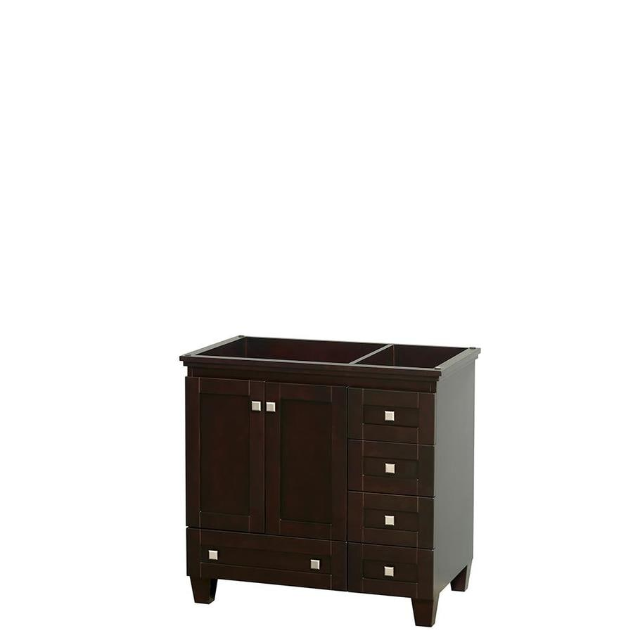 Wyndham Collection Acclaim Espresso 35-in Transitional Bathroom Vanity