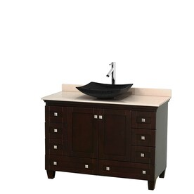 Wyndham Collection Acclaim Espresso Single Vessel Sink Bathroom Vanity with Natural  Marble Top  Common Shop Bathroom Vanities at Lowes com. D Vontz Natural Marble Vessel Single Sink Bathroom Vanity Top. Home Design Ideas