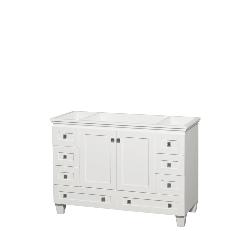 Shop Wyndham Collection Acclaim White Bathroom Vanity Common In - Lowes 48 bathroom vanity