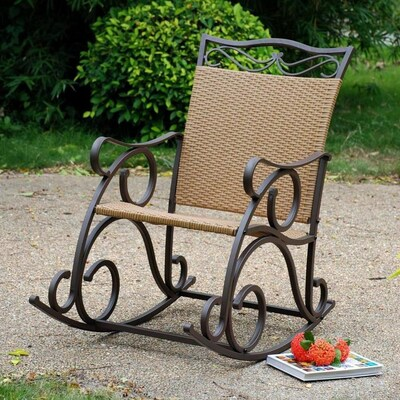 Sensational Valencia Wicker Metal Rocking Chair S With Woven Seat Gmtry Best Dining Table And Chair Ideas Images Gmtryco