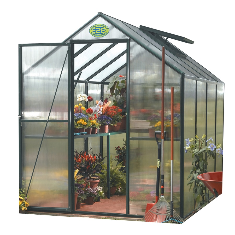 STC 6-ft L x 8-ft W x 7.2-ft H Metal Greenhouse