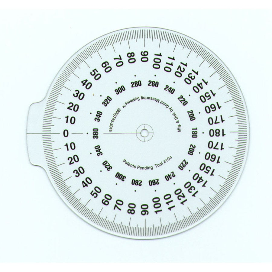 "QUINT MEASURING SYSTEMS 4"" Attachable Dial"