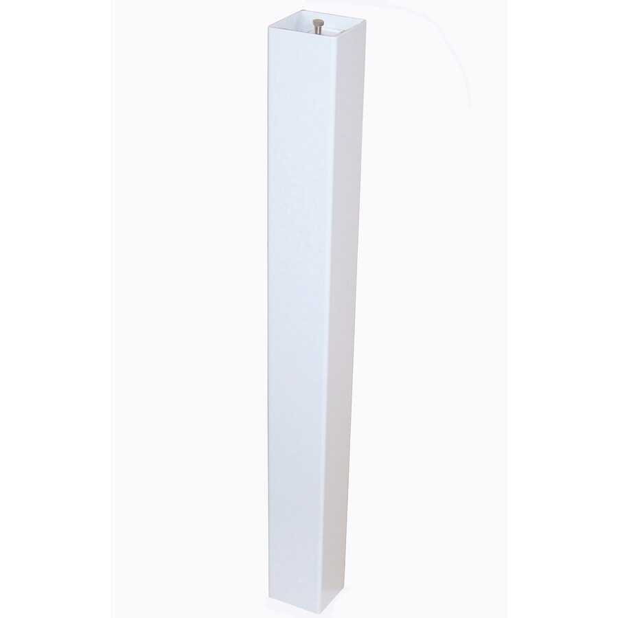 Gaines Manufacturing White Aluminum Mailbox Post