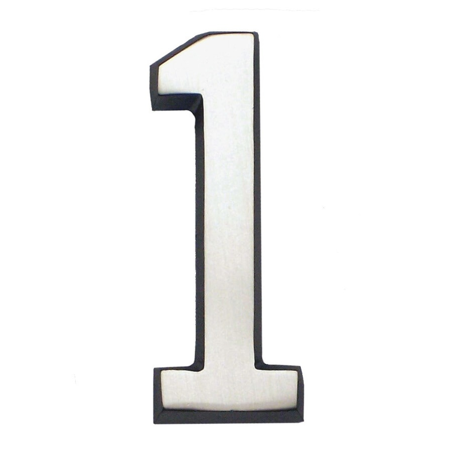 Gaines Manufacturing 5.75-in Satin Nickel House Number # 1