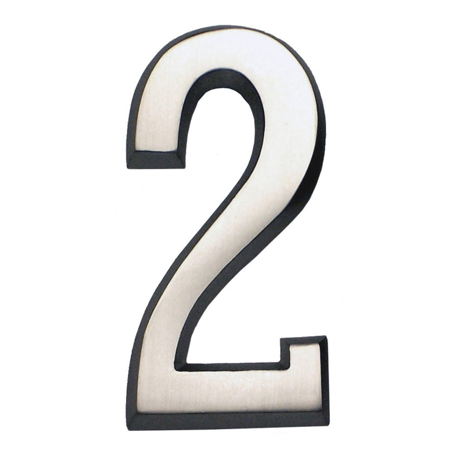 Gaines Manufacturing 5.75-in Satin Nickel House Number # 2