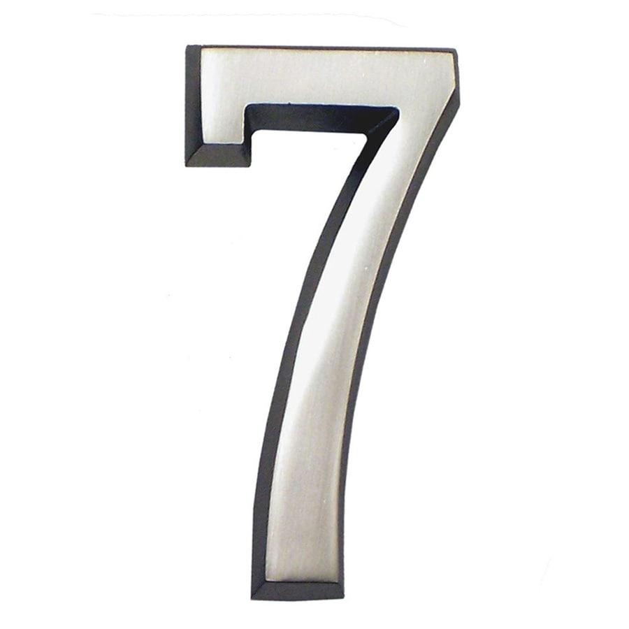 Gaines Manufacturing 4-in Satin Nickel House Number # 7