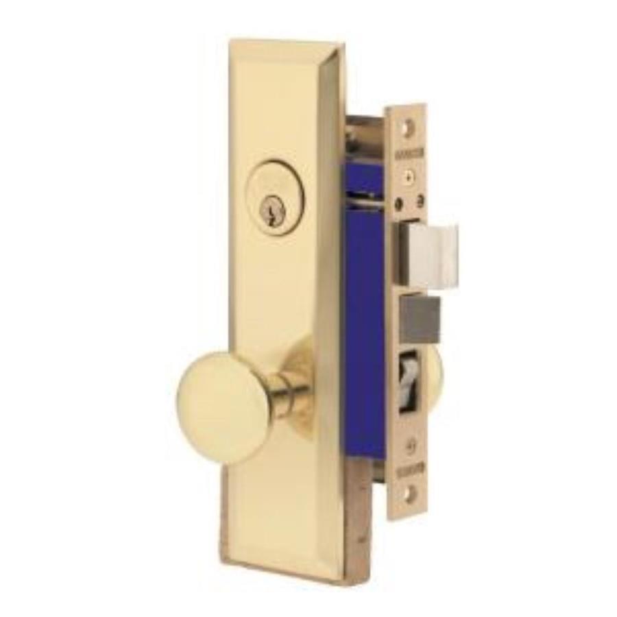 Brass SecureKey Mortise-Lock Keyed Entry Door Handleset