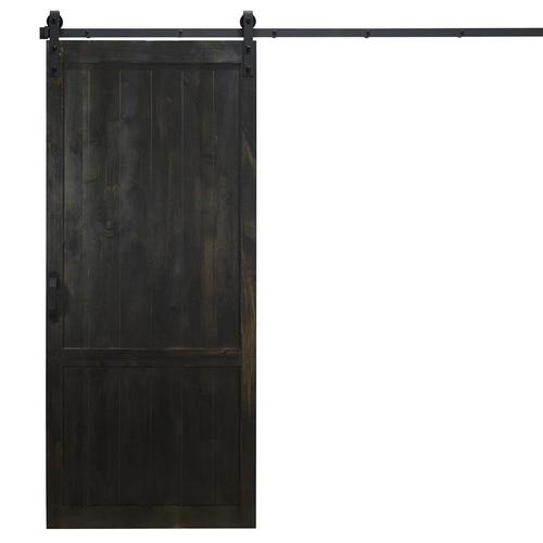 Dogberry Country Vintage Midnight Black Stained 2 Panel