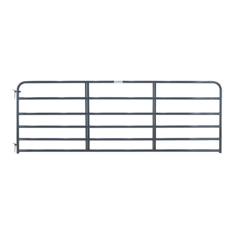 Tarter (Common: 4.16-ft x 12-ft; Actual: 4.16-ft x 11.75-ft) Blue E-Coat Steel Farm Fence Gate