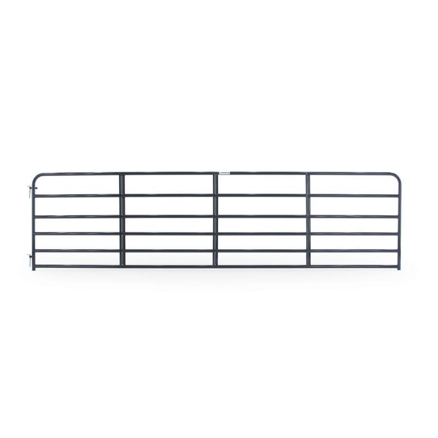 Tarter (Common: 4.16-ft x 16-ft; Actual: 4.16-ft x 15.75-ft) Blue E-Coat Steel Farm Fence Gate