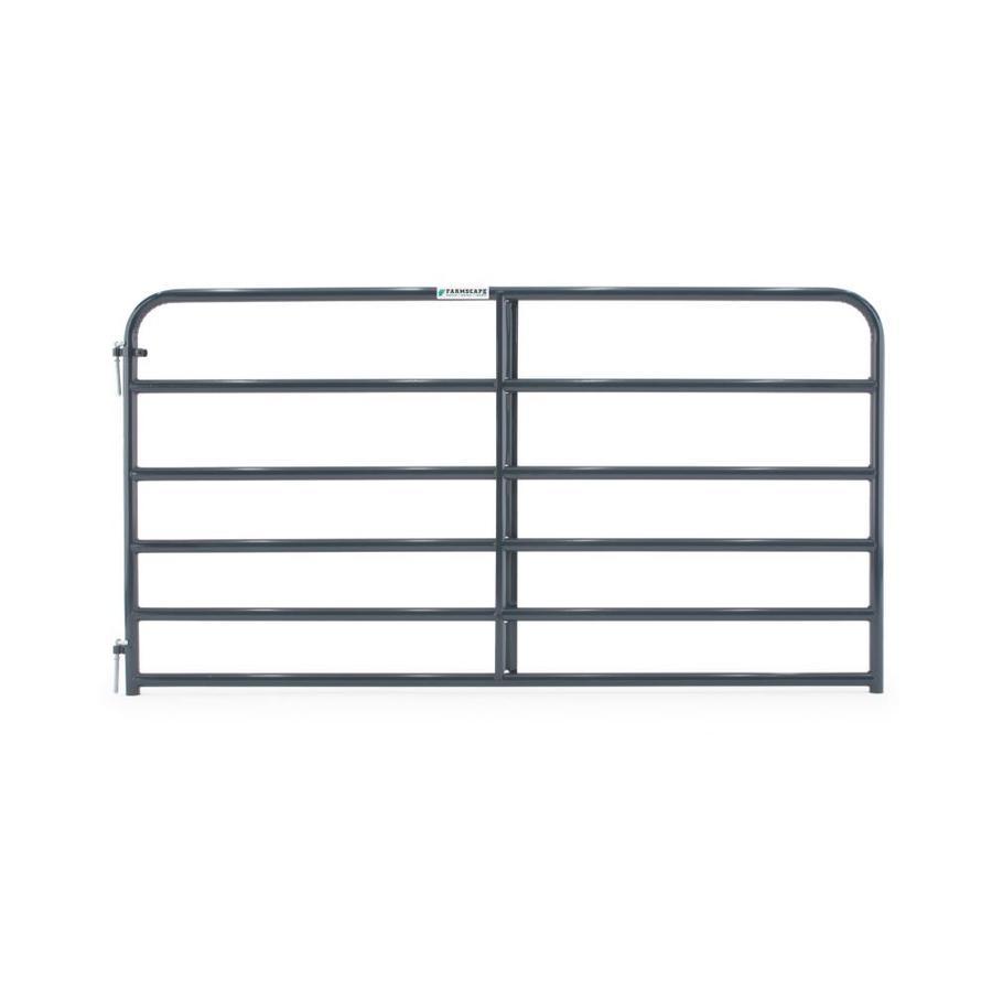 Tarter Blue E-Coat Steel Farm Fence Gate (Common: 4.16-ft x 8-ft; Actual: 4.16-ft x 7.75-ft)