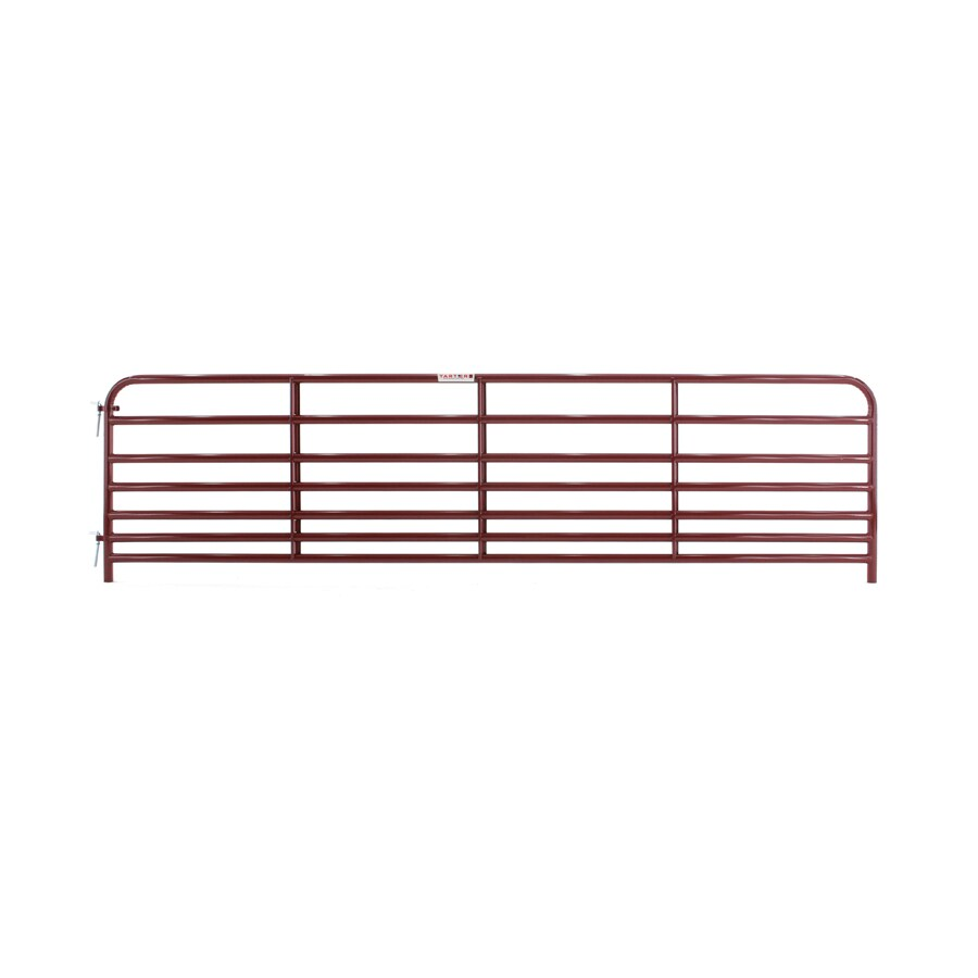 Tarter Red E-Coat Steel Farm Fence Gate (Common: 2.92-ft x 12-ft; Actual: 2.92-ft x 11.75-ft)