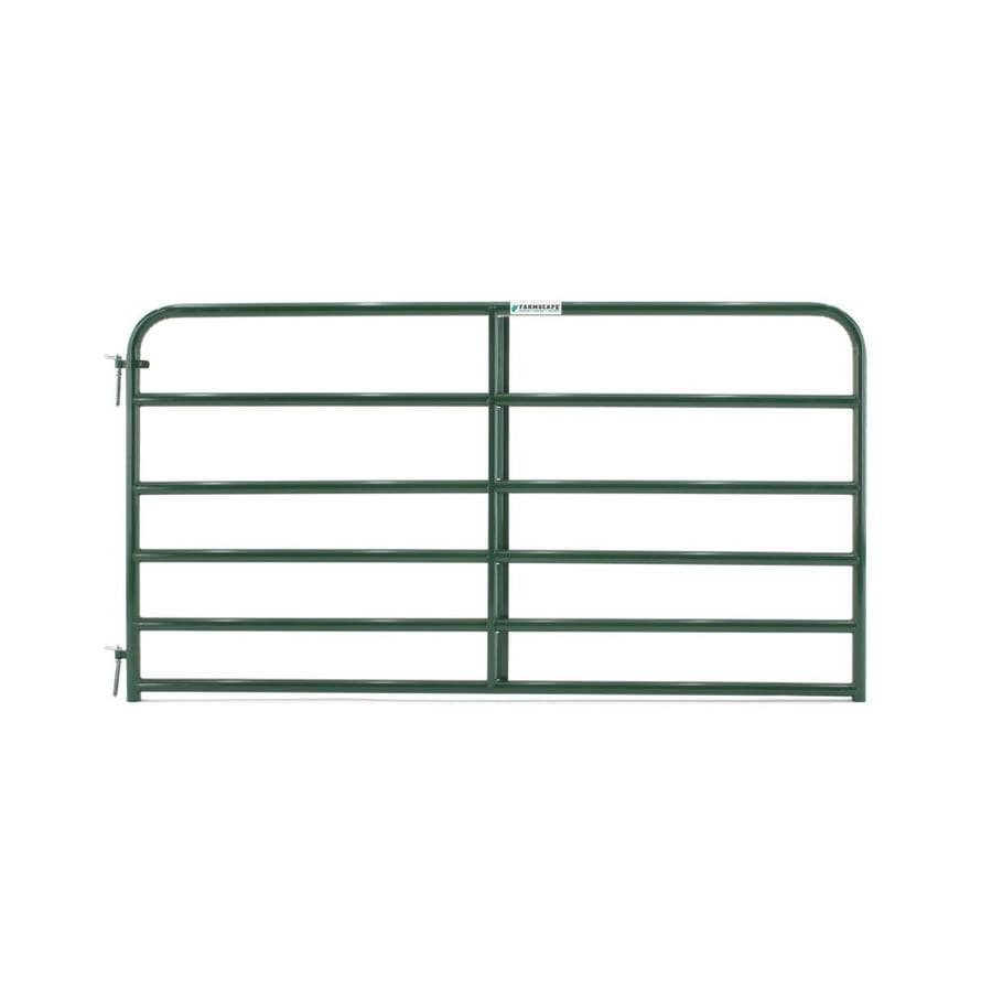 Tarter (Common: 4.16-ft x 8-ft; Actual: 4.16-ft x 7.75-ft) Green Powder Over E-Coat Steel Farm Fence Gate