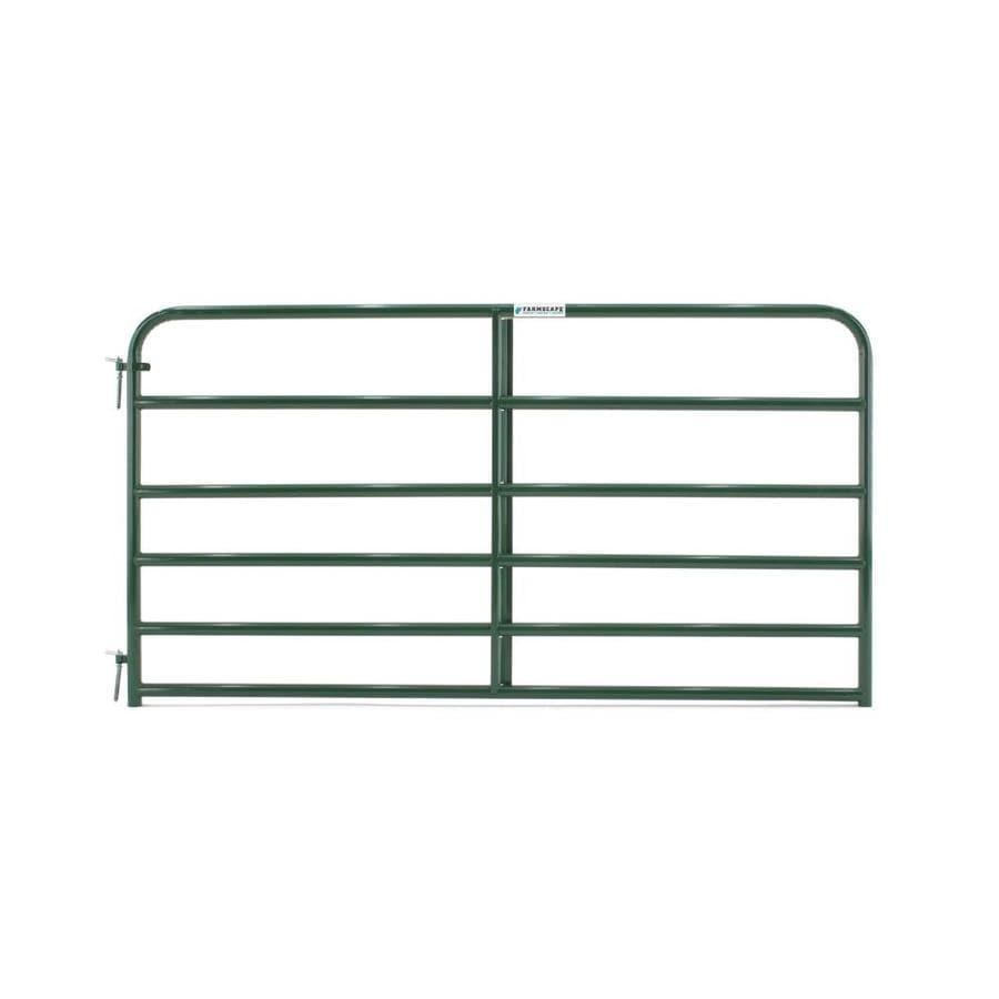 Tarter Green Powder Over E-Coat Steel Farm Fence Gate (Common: 4.16-ft x 8-ft; Actual: 4.16-ft x 7.75-ft)