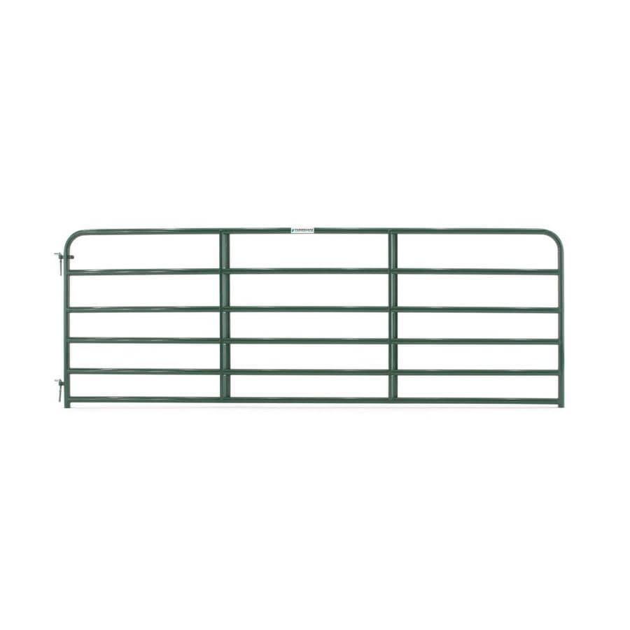 Tarter Green Powder Over E-Coat Steel Farm Fence Gate (Common: 4.16-ft x 12-ft; Actual: 4.16-ft x 11.75-ft)
