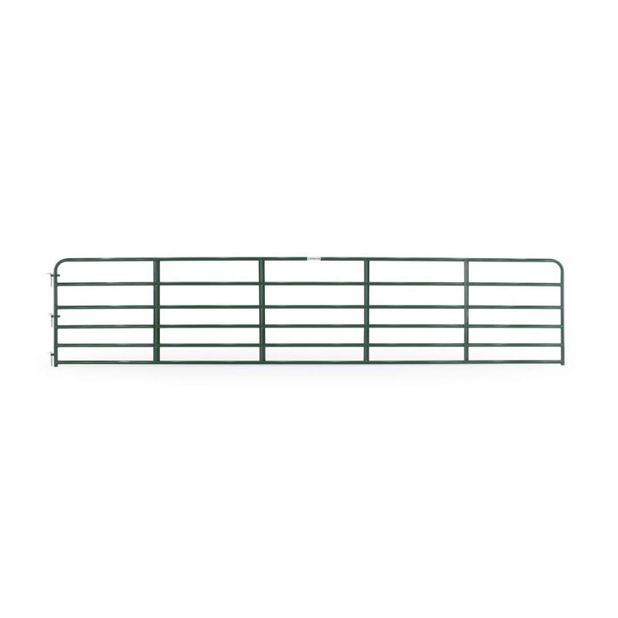 Tarter (Common: 4.16-ft x 20-ft; Actual: 4.16-ft x 19.75-ft) Green Powder Over E-Coat Steel Farm Fence Gate