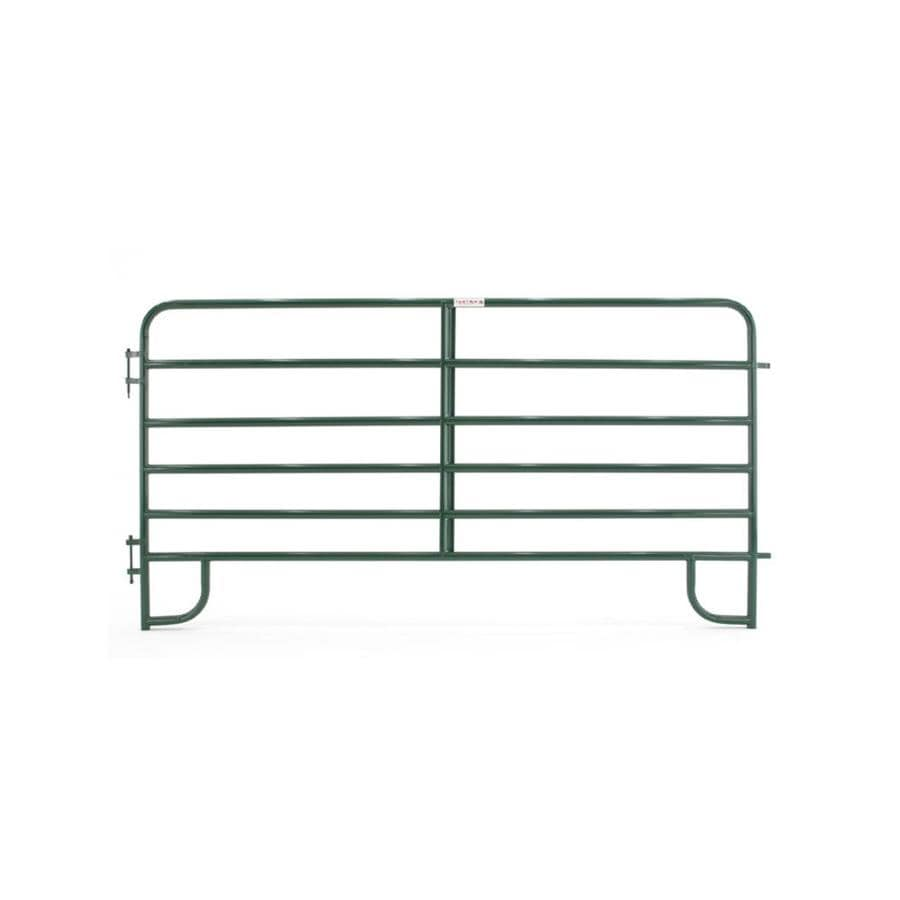 Tarter (Common: 5-ft x 10-ft; Actual: 5.167-ft x 10-ft) Powder Over E-Coat Steel Farm Fence Panel