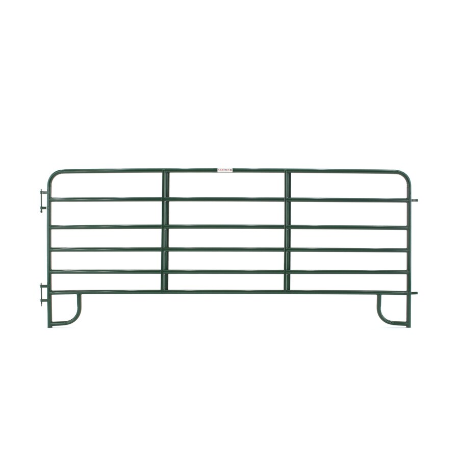 Tarter (Common: 5-ft x 12-ft; Actual: 5.167-ft x 12-ft) Powder Over E-Coat Steel Farm Fence Panel