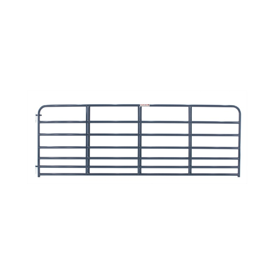 Tarter (Common: 4.16-ft x 12-ft; Actual: 4.16-ft x 11.75-ft) Blue E-Coat Steel Farm Fence Gate