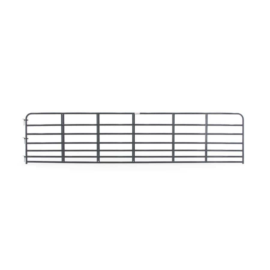 Tarter (Common: 4.16-ft x 18-ft; Actual: 4.16-ft x 17.75-ft) Blue E-Coat Steel Farm Fence Gate