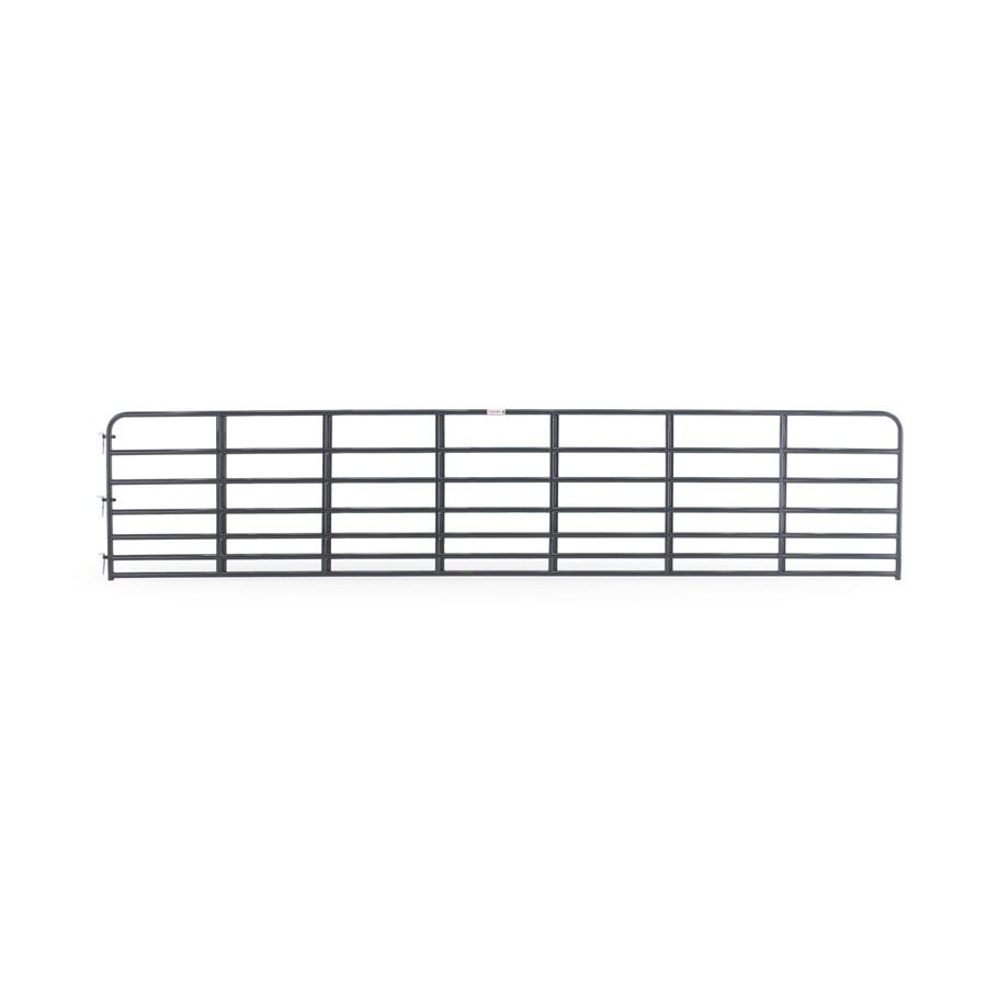 Tarter (Common: 4.16-ft x 20-ft; Actual: 4.16-ft x 19.75-ft) Blue E-Coat Steel Farm Fence Gate