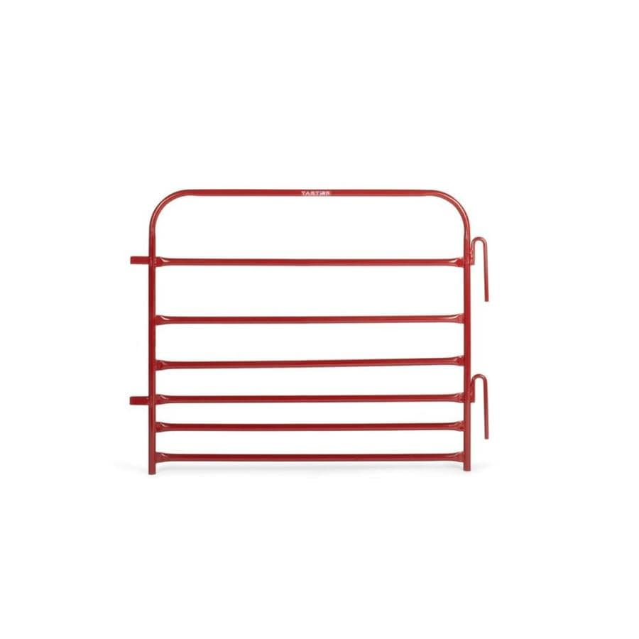 Tarter (Actual: 3-ft x 4-ft) Pipe panel Red powder coat Steel Farm Fence Panel
