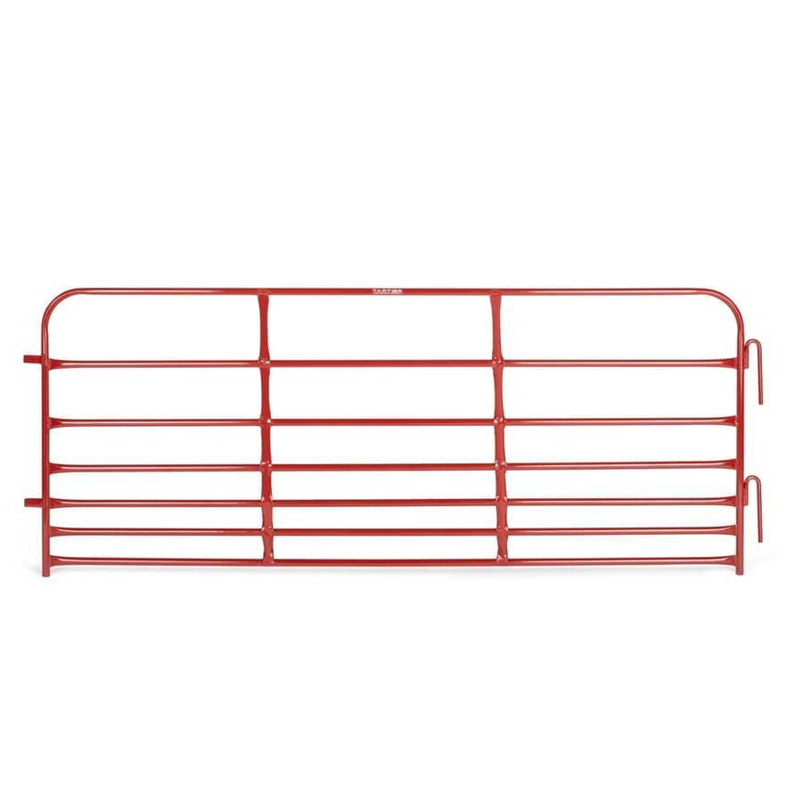 Tarter (Actual: 3-ft x 8-ft) Pipe panel Red powder coat Steel Farm Fence Panel