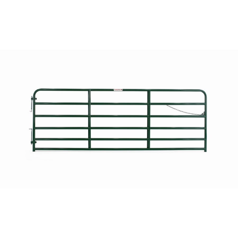 Tarter (Common: 4.33-ft x 12-ft; Actual: 4.33-ft x 11.75-ft) Green Powder Over E-Coat Steel Farm Fence Gate