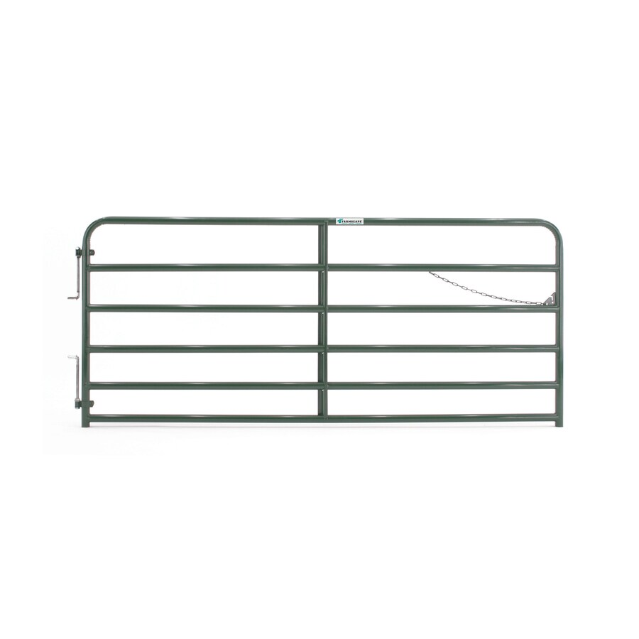 Tarter (Common: 4.33-ft x 10-ft; Actual: 4.33-ft x 9.75-ft) Green Powder Over E-Coat Steel Farm Fence Gate
