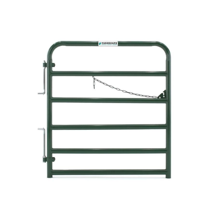 Tarter (Common: 4.33-ft x 4-ft; Actual: 4.33-ft x 3.75-ft) Green Powder Over E-Coat Steel Farm Fence Gate