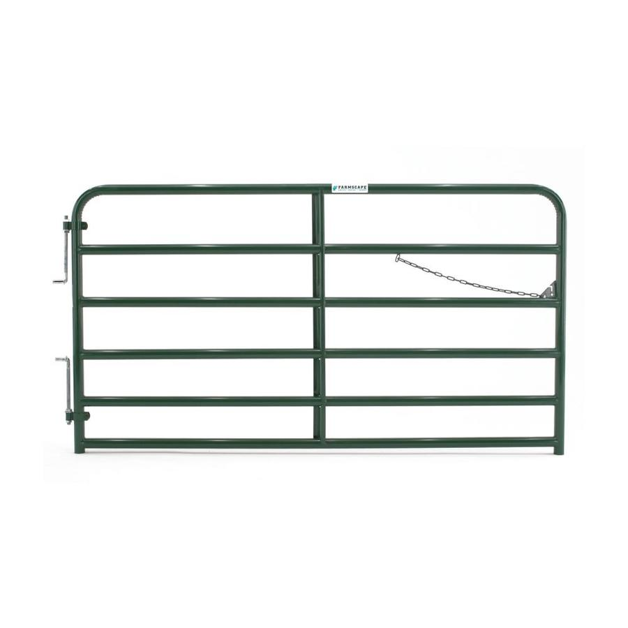 Tarter (Common: 4.33-ft x 8-ft; Actual: 4.33-ft x 7.75-ft) Green Powder Over E-Coat Steel Farm Fence Gate