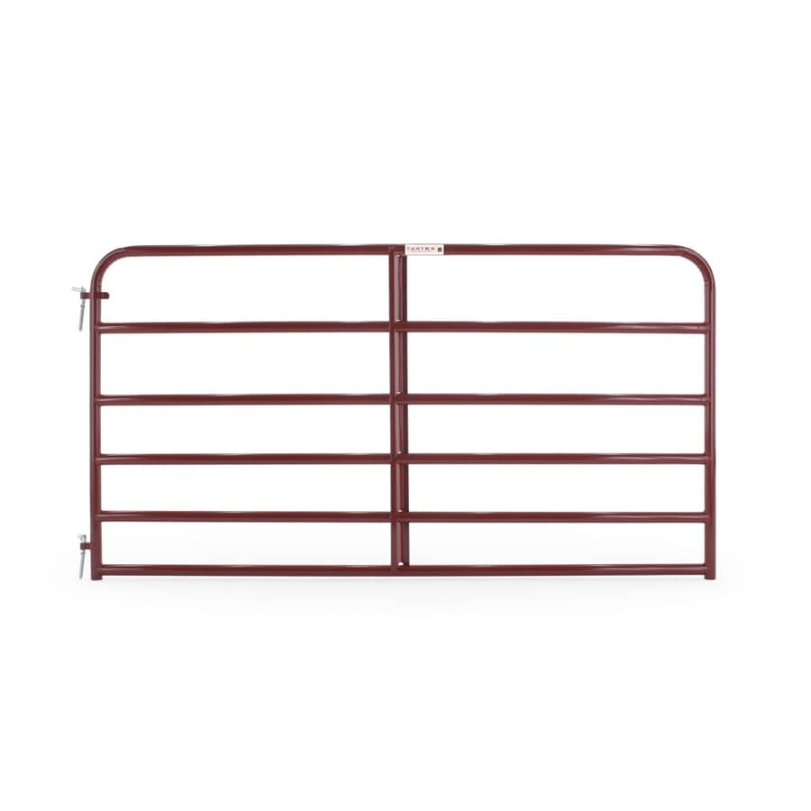 Tarter Red E-Coat Steel Farm Fence Gate (Common: 4.16-ft x 8-ft; Actual: 4.16-ft x 7.75-ft)