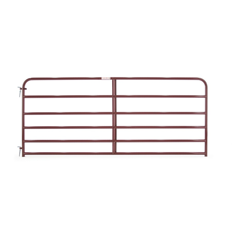 Tarter (Common: 4.16-ft x 10-ft; Actual: 4.16-ft x 9.75-ft) Red E-Coat Steel Farm Fence Gate